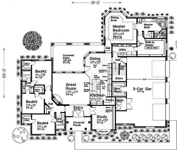European Floor Plan - Main Floor Plan #310-1279