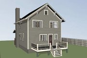 Craftsman Style House Plan - 3 Beds 2.5 Baths 1696 Sq/Ft Plan #79-306 Exterior - Rear Elevation