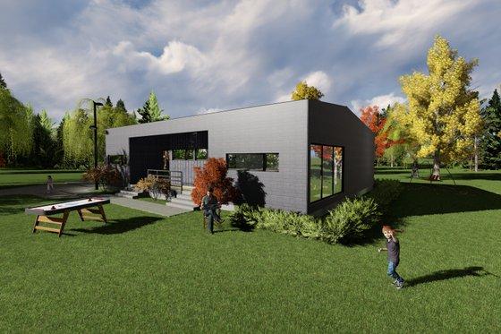 Modern Exterior - Front Elevation Plan #549-24