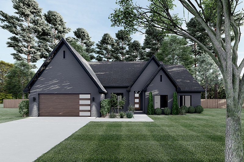 Dream House Plan - European Exterior - Front Elevation Plan #923-187
