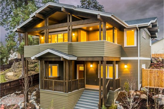Craftsman Exterior - Front Elevation Plan #895-92