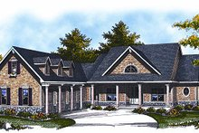 Home Plan - Traditional Exterior - Front Elevation Plan #70-879