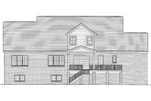 Home Plan - Traditional Exterior - Rear Elevation Plan #46-406