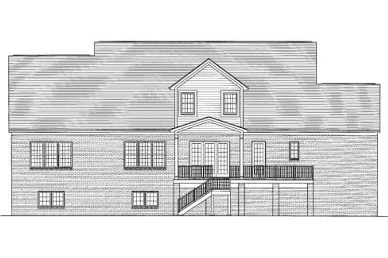 Traditional Exterior - Rear Elevation Plan #46-406 - Houseplans.com