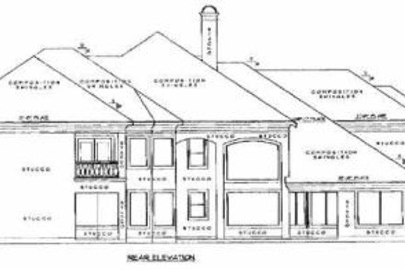 European Exterior - Rear Elevation Plan #61-160 - Houseplans.com