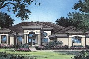 Mediterranean Style House Plan - 4 Beds 3 Baths 2409 Sq/Ft Plan #417-262 Exterior - Front Elevation