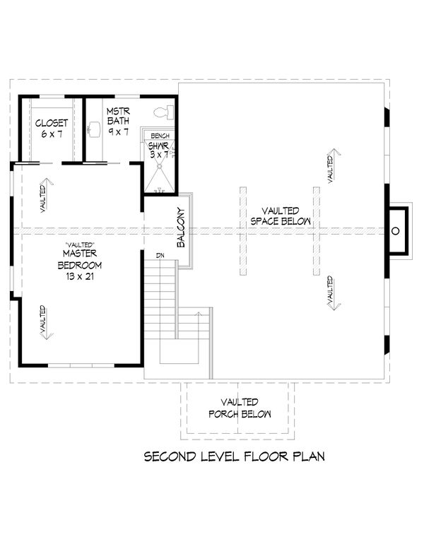 Architectural House Design - Country Floor Plan - Upper Floor Plan #932-54