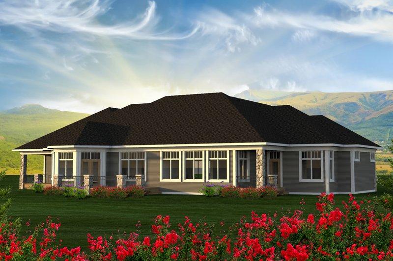 Ranch Exterior - Rear Elevation Plan #70-1232 - Houseplans.com