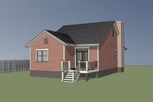 Dream House Plan - Bungalow Exterior - Rear Elevation Plan #79-307