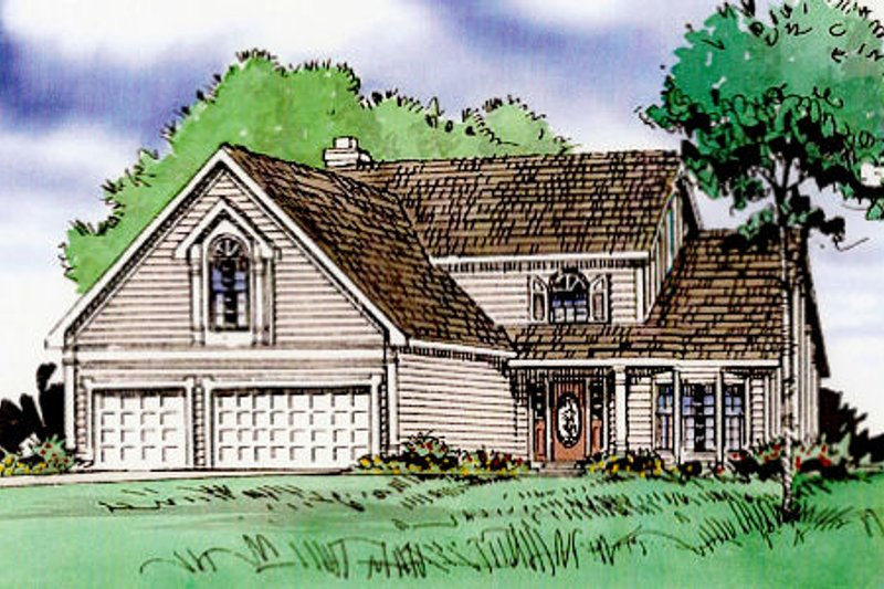 Country Exterior - Front Elevation Plan #405-192