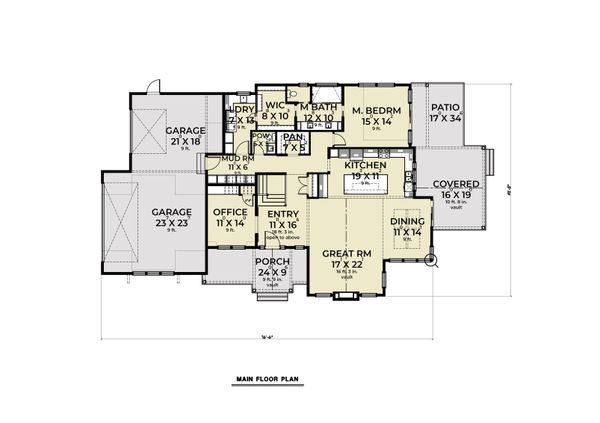 Farmhouse Floor Plan - Main Floor Plan #1070-113
