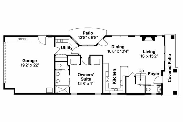 House Plan Design - Cottage Floor Plan - Main Floor Plan #124-909