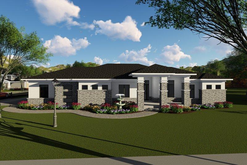 House Plan Design - Ranch Exterior - Front Elevation Plan #70-1422