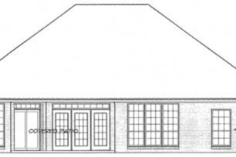 Colonial Exterior - Rear Elevation Plan #310-770 - Houseplans.com