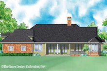 Country Exterior - Rear Elevation Plan #930-246