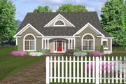 Country Style House Plan - 3 Beds 2.5 Baths 1798 Sq/Ft Plan #56-243 Exterior - Front Elevation