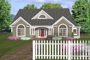 Country Exterior - Front Elevation Plan #56-243