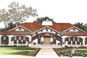 Mediterranean Style House Plan - 4 Beds 2.5 Baths 2539 Sq/Ft Plan #72-485 Exterior - Other Elevation