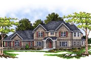 Traditional Style House Plan - 4 Beds 3.5 Baths 3376 Sq/Ft Plan #70-510 Exterior - Front Elevation