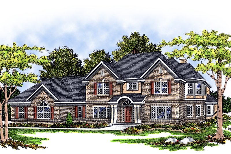 Traditional Exterior - Front Elevation Plan #70-510 - Houseplans.com
