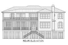 Beach Exterior - Rear Elevation Plan #1054-84