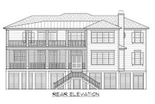 House Plan Design - Beach Exterior - Rear Elevation Plan #1054-84