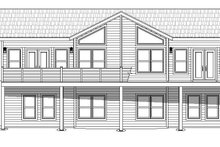 Adobe / Southwestern Exterior - Rear Elevation Plan #932-119