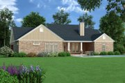 Tudor Style House Plan - 4 Beds 3.5 Baths 2342 Sq/Ft Plan #45-372 Exterior - Rear Elevation