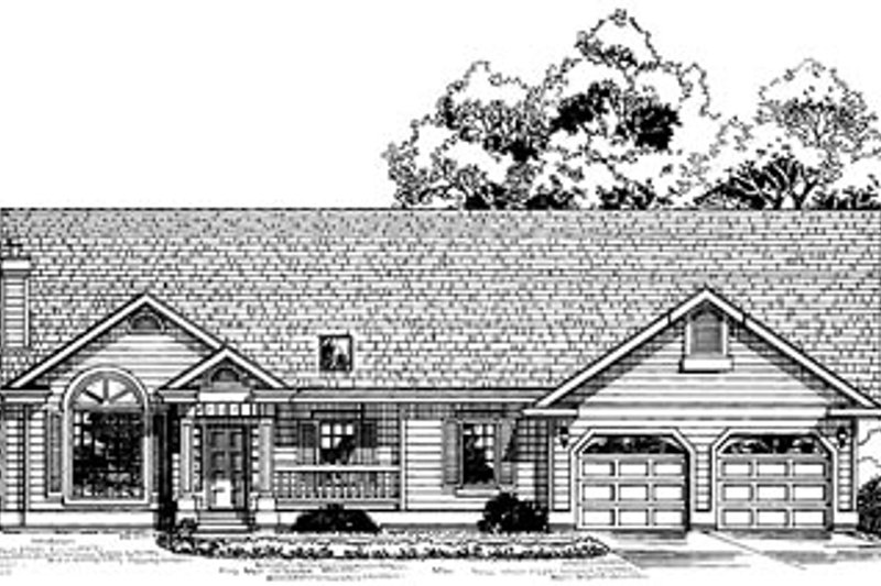 Traditional Style House Plan - 3 Beds 2 Baths 1883 Sq/Ft Plan #47-259 Exterior - Front Elevation
