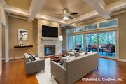 Traditional Style House Plan - 4 Beds 4 Baths 2607 Sq/Ft Plan #929-980 Interior - Family Room