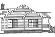 Cottage Style House Plan - 3 Beds 2 Baths 1174 Sq/Ft Plan #312-338 Exterior - Rear Elevation