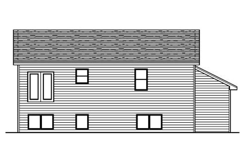 Traditional Exterior - Rear Elevation Plan #51-377 - Houseplans.com