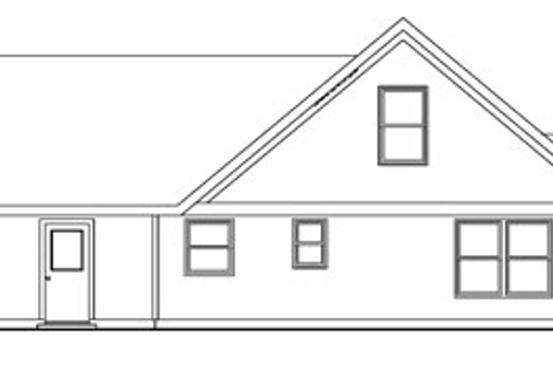 Craftsman Exterior - Rear Elevation Plan #124-746 - Houseplans.com