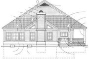 Country Style House Plan - 2 Beds 2 Baths 1295 Sq/Ft Plan #72-103 Exterior - Rear Elevation
