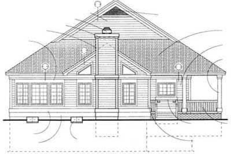 Country Exterior - Rear Elevation Plan #72-103 - Houseplans.com