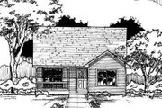 Traditional Style House Plan - 3 Beds 1 Baths 1038 Sq/Ft Plan #50-220 Exterior - Front Elevation