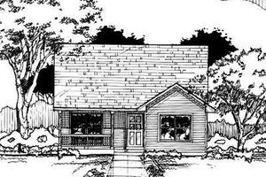 Traditional Exterior - Front Elevation Plan #50-220