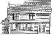 Traditional Style House Plan - 3 Beds 2.5 Baths 1924 Sq/Ft Plan #70-242 Exterior - Rear Elevation