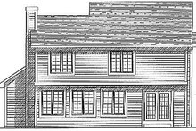 Dream House Plan - Traditional Exterior - Rear Elevation Plan #70-242