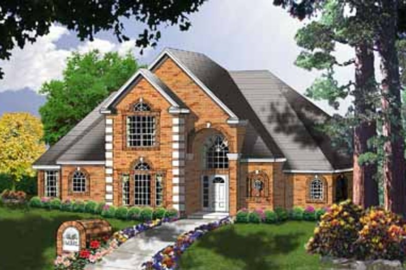 European Exterior - Front Elevation Plan #40-144