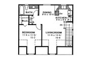 Traditional Style House Plan - 1 Beds 1 Baths 654 Sq/Ft Plan #126-174 Floor Plan - Upper Floor Plan