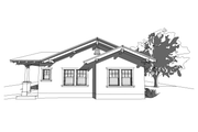Craftsman Style House Plan - 2 Beds 1.5 Baths 1044 Sq/Ft Plan #485-3 Exterior - Rear Elevation