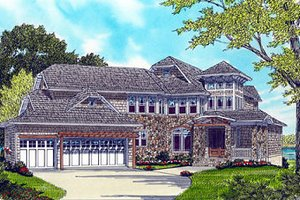Traditional Exterior - Front Elevation Plan #413-132