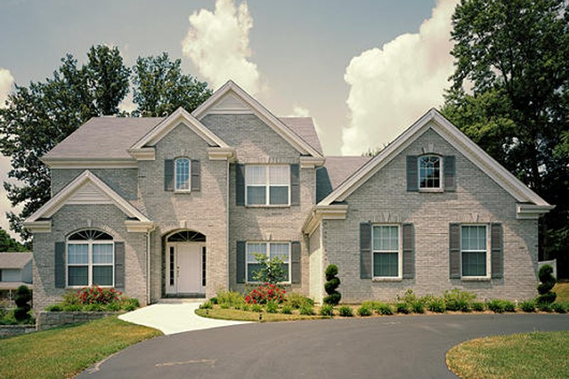 Colonial Exterior - Front Elevation Plan #57-274