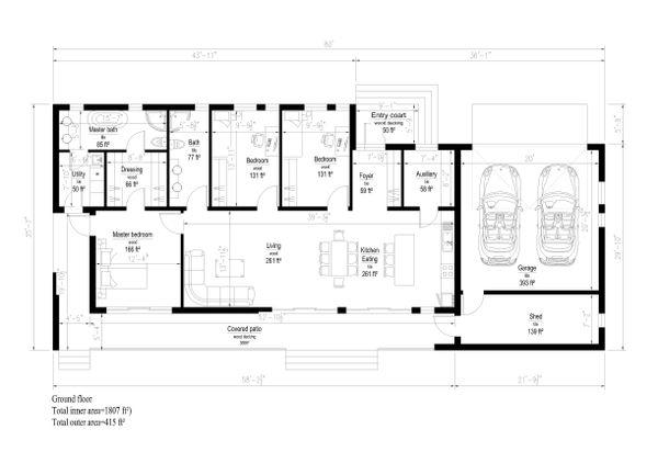 Modern Floor Plan - Main Floor Plan Plan #549-14