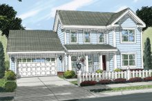 Dream House Plan - Country Exterior - Front Elevation Plan #513-2056