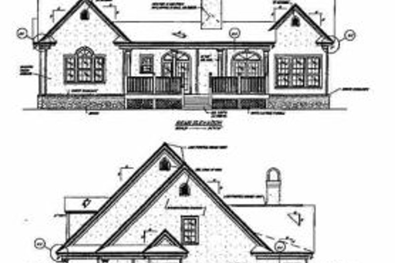 Traditional Exterior - Rear Elevation Plan #37-113 - Houseplans.com
