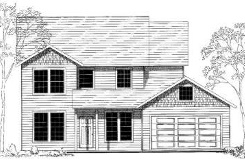 Country Style House Plan - 5 Beds 2.5 Baths 1990 Sq/Ft Plan #303-315 Exterior - Front Elevation