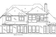 European Style House Plan - 4 Beds 3 Baths 3329 Sq/Ft Plan #141-225 Exterior - Rear Elevation