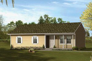 Ranch Exterior - Front Elevation Plan #57-529